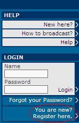 1-Anasayfa'da You are new? Register here. linkine tıklayın.