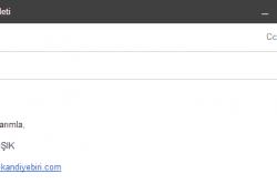 Gmail gönderilen mesajlara imza eklemek