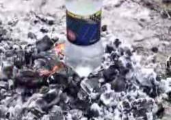 Pet Şişe İle Ateşde Su Kaynatma