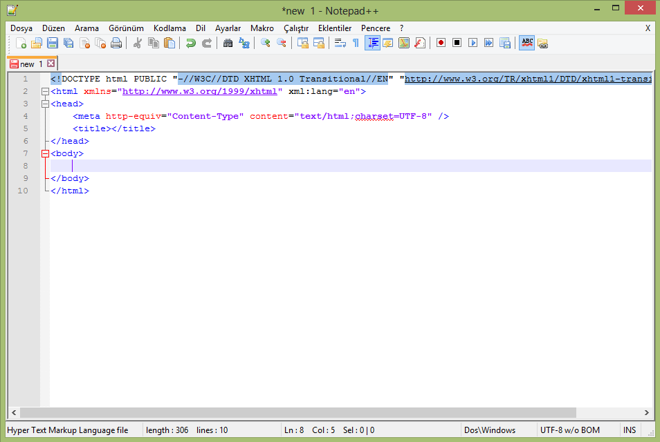 Notepad ++ Zen Coding Kod Tamamlama Eklentisi