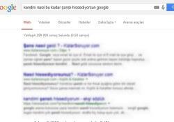 Google'dan gelen komik aramalar