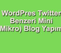 mikro blog yapımı