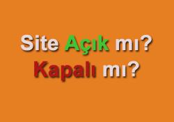 Site Açık mı? Kapalı mı? Durumu PHP