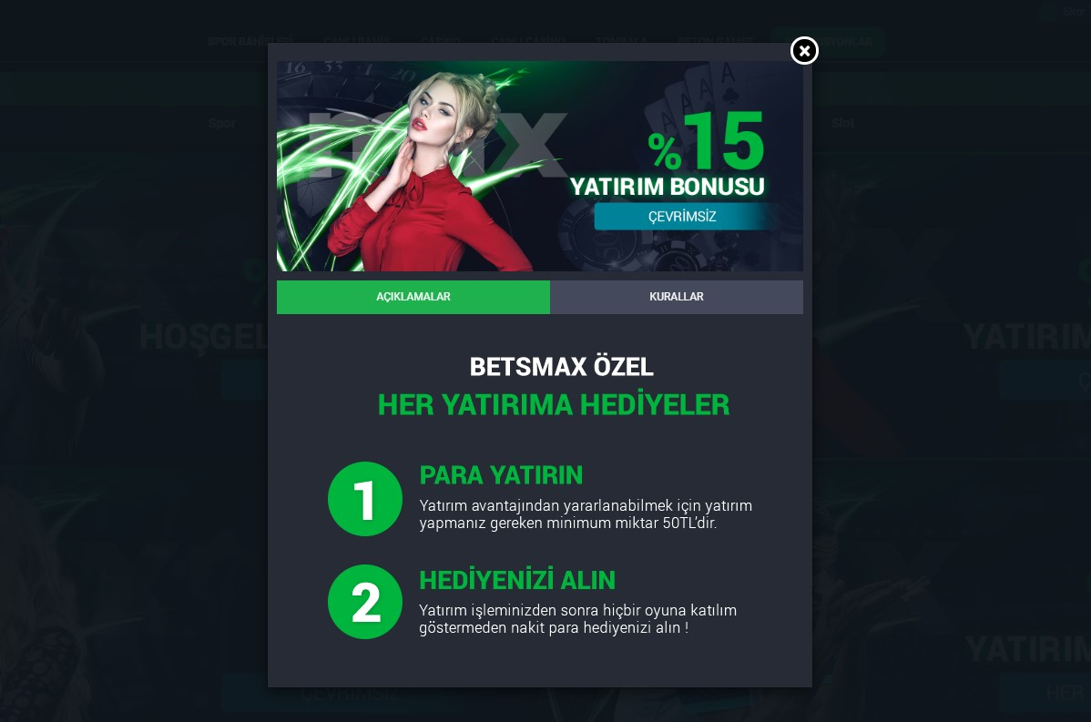 BetsMax Giriş Promosyonu